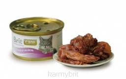 Brit Care Cat Tuna & Salmon PUSZKA 80g