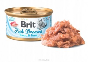 BRIT CAT FISH DREAMS PSTRĄG Z TUŃCZYKIEM 80g
